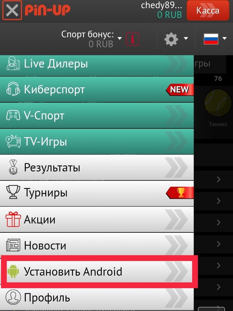 Скачать приложение Pin Up Bet на Андроид с официального сайта